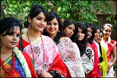 The Joy of Boishakh (Nazmul Hossain [ON/OFF]) Tags: life new color nikon university year culture celebration program dhaka 2012 rythm bengali pohela 1419 boishakh nazmul romna charukola   botomul d3100 hossian nazmulbd 01717552939