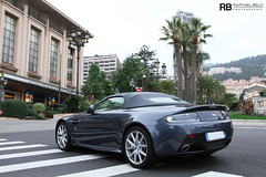 V8 Vantge S Roadster (Raphal Belly Photography) Tags: blue light paris car de french photography eos hotel bay riviera photographie martin s casino montecarlo monaco belly exotic 7d passion raphael rb v8 aston spotting vantage bleue supercars roadster raphal principality worldcars