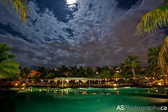Hotel Riu Montego Bay, Jamaica pool at night with 2012 super moon (andreas_schneider) Tags: longexposure blue trees vacation moon reflection green pool beautiful night clouds palms purple jamaica caribbean rui montegobay saintjames ironshore mahoebay supermoon ruimontegobay hotelrui
