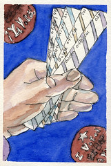 2008.11.05 Yes, We Can! Yes, We Did! (Julia L. Kay) Tags: sanfrancisco portrait woman selfportrait art face female pen ink self watercolor paper sketch hands election san francisco artist hand arte julia finger kunst president fingers autoretrato kay digit patriotic daily dessin peinture portraiture watercolour thumb 365 transparent everyday vote digits thumbs dibujo obama stub dpp electoral voting voter artista artiste künstler juliakay julialkay dailyportraitproject