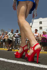 Maspalomas Gay Pride 2012 (Alex Bramwell) Tags: carnival gay red men feet grancanaria drag shoe spain highheel legs gaypride dragqueen mardigras stiletto 2012 maspalomas