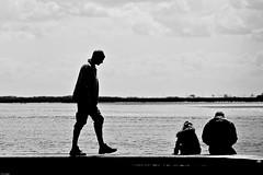3426. Walking the groynes at Cleethorpes (Di's Eyes) Tags: sea people man water silhouette walking groyne contrejour cleethorpes odt week20 52weeksofpix