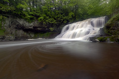 Wadsworth Falls (Steady_Habits) Tags: trees red green water yellow canon photography movement rocks long exposure stu connecticut smooth ct filter le swirl polarizer circular silky munro f35 middlefield sigma1020mm polarizing wadsworthfalls t2i tiffencpl
