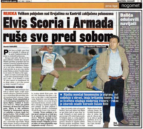 Scoria i Armada ruše sve pred sobom (Sportske Novosti, 06.12.2004)