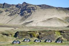 Little houses in Vik