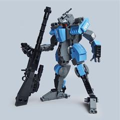 Ongyō F5 - Sniper Class (Fredoichi) Tags: lego space military police walker micro mecha mech microscale fredoichi gundamtype patlabortype