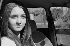 The Better Half (Mason Tate) Tags: portrait blackandwhite girl car australia perth hamiltonhill