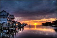 Sunset at Brigands Bay - OBX [Explore - Front Page!] (MurrayH77) Tags: sunset nc hatteras hdr frisco obx 3exp efs1755 nspp mygearandme mygearandmepremium mygearandmebronze mygearandmesilver bestevercompetitiongroup