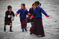 Playtime (Lil [Kristen Elsby]) Tags: travel school girls boy boys girl children uniform asia child play bhutan running run topv5555 laugh editorial laughter gho kira schooluniform reportage bumthang travelphotography jakar toego canon70200f28l canon7020028l canon5dmarkii