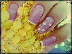 Nail art Coração (Mhilka ♥) Tags: art nail rosa coração nailart unha francesinha decorada