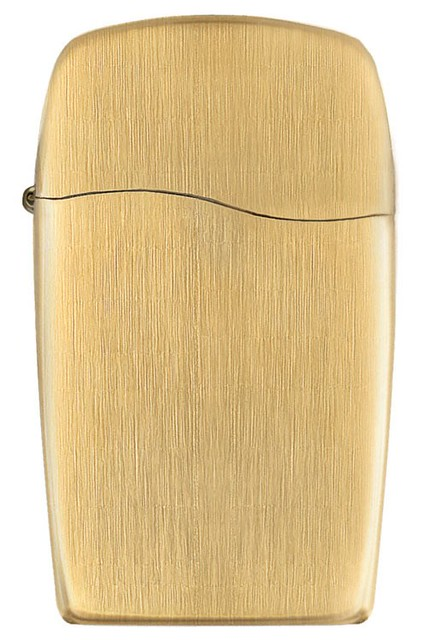 芝宝Zippo BLU Vertical Gold 18-Karat平板18K镀金打火机$33.92