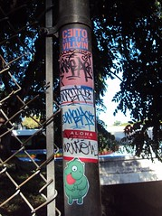Wuss Pole (Question Josh? - SB/DSK) Tags: streetart sticker stickerart stickers tags josh question aloha questionjosh ceito