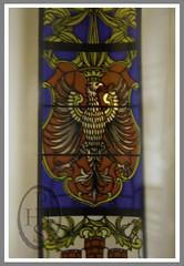 Krolewska vodka stained glass window (111) (PHH Sykes) Tags: red grain poland polish clear vodka pure distillery gora distillers polski hulking zielona polmos krolewska
