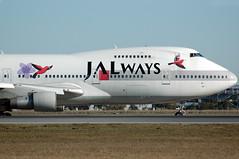 JA8150 Reso`cha Boeing 747-246B JALways (Robert Frola Aviation Photographer) Tags: nikond70 2006 boeing boeing747 jal japanairlines ybbn jalways ja8150 boeing742 specialairlinerpaintschemes brisbanespottersweekend2006