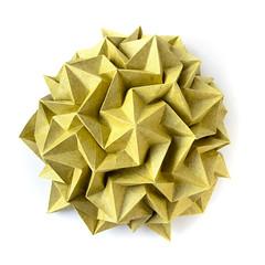 Paradigma hexagonal corrugation (_Ekaterina) Tags: yellow paper origami corrugation lukasheva