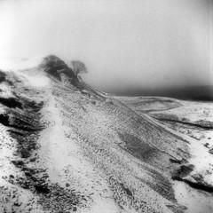 Bleak moor (polarisandy) Tags: snow landscape noir snowstorm delta bleak moor ilford pennines delta400 ilfosol3 wwwpolarisandycom