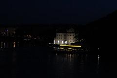 Museum of Modern Art and illuminated penguins (Graham Dash) Tags: prague nightphotos floodlighting museumofmodenart floodlitbuildings