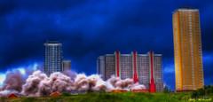 Dust (Billy McDonald) Tags: glasgow demolition highrise dust multistorey towerblocks redroadflats fractalius