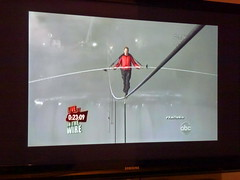 Nik Wallenda's tightrope walk over Niagara Falls is one for the history books (Peggy2012CREATIVELENZ) Tags: mist canada water lines niagarafalls screenshot curves daredevil tightropewalk nikwallenda peggy2012creativelenz p1180732a