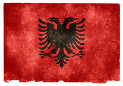 Albania Grunge Flag (Free Grunge Textures - www.freestock.ca) Tags: old red black bird texture vintage emblem paper europe european image eagle antique background flag grunge country stock nation picture retro national page sheet aged albanian insignia albania resource textured grungy