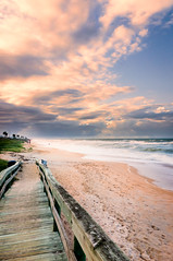 An evening at the beach (mike_orlando) Tags: ocean sunset beach clouds sand nikon day florida cloudy flaglerbeach 18200mm d7000