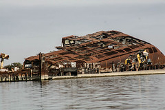 Shipwreck, Shatt Al-Arab Waterway, Basra, Iraq