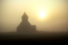 Fairfield in the mist (Explored) 21/04/2014 (Dommett5) Tags: mist church kent