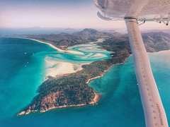 Take the trip (FlavioSarescia) Tags: travel summer nature sunshine landscape island islands fly flight australia queensland downunder windowseat iphone whithaven whithavenbeach