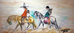 "DeGrazia's ""Navajo Family"", 1961. (DeGrazia Gallery in the Sun) Tags: arizona ted architecture artist gallery desert artgallery tucson az exhibit exhibition foundation collection adobe navajo nonprofit degrazia catalinas ettore nationalhistoricdistrict galleryinthesun"