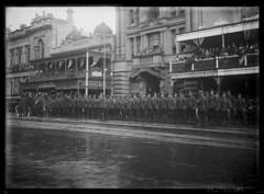 Australia Day, 1917 (State Library of South Australia) Tags: wwi worldwari adelaide worldwarone soldiers australiaday kingwilliamstreet processions aif criterionhotel