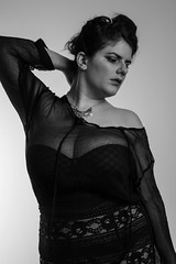 Week 20 (Melle Cherie) Tags: bw girl beauty fashion female women lace gorgeous curvy transparency chubby beautyfull