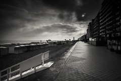 Blankenberge In Black And White (la digue fantme) (Gilderic Photography) Tags: sea bw belgium belgique perspective blankenberge nb seafront digue gilderic