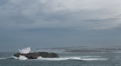 No Frontiers (MANUELup) Tags: ocean blue light sea wild sky lighthouse white seascape nature water beautiful beauty rock spain rocks power natural great wave naturallight structure cliffs seashore santander fury temporal cantabria waterscape mouro