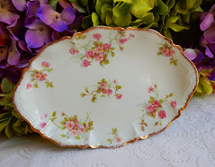 Vintage Limoges Porcelain Tray ~ Platter ~ Roses ~ Gold Gilt (Donna's Collectables) Tags: roses vintage gold tray platter porcelain ~ gilt limoges