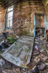 -  Friend (D-W-J-S) Tags: door broken neglect hospital fife fisheye tokina strathmore derelict fever 1017mm
