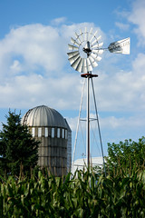 The Winklers (WORLDS APART PHOTO) Tags: clouds corn different cloudy farming windmills silo agriculture windmillwednesday