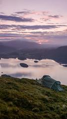 Derwent Water Wild Camp - Lake District (mat0tam20) Tags: camping lake landscapes spring fuji district tent hike cumbria 16mm xt1