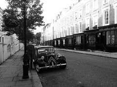 Old Modern London (Photo By Pisminetska) Tags: old city guy london car model 60s young nottinghill