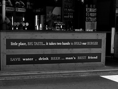 Save Water! (Daniel C. Brunner) Tags: blackandwhite bw water beer croatia medulin food restaurant mono monochrome