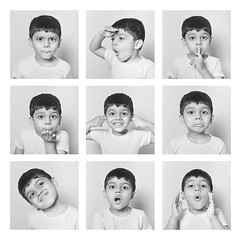 Expressions (Bhaskar Dutta) Tags: new boy bw baby white love me happy flying kid kiss sad serious expression lol fear joy angry confused nervous surprised mean noise emotions flirty confident shocked irritated pleased disgusted