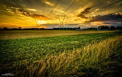 Farmland #2 (59roadking - Jim Johnston) Tags: light sunset summer sky sun field clouds farm 500px ifttt