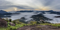 A more wide open shot from the same park (shooterb9) Tags: sky panorama cloud mountains rock brasil riodejaneiro sunrise trekking dark rj mourning outdoor wide trail serra formations teresopolis regioserrana brasilemimagens parquemontanhas