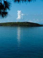 Solitary Cloud (Eleanor Howell) Tags: blue sea sky cloud seascape island mandraki ermioni