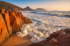 Morning At Box Beach || PORT STEPHENS || NSW (rhyspope) Tags: ocean new sea pope beach water wales port sunrise bay coast marine rocks box south australia nelson coastal nsw aussie stephens rhys rhyspope