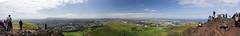 Edinburgh (Aaron J Barber) Tags: sea sky panorama mountain castle rock clouds coast edinburgh edinburghcastle hill bluesky arthursseat basalt salisburycrags polarisingfilter