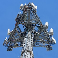 Cell Tower (brev99) Tags: tower squarecrop celltower d7100 topazdenoise saturatedslidefilmeffect tamron70300vc