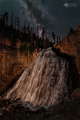 Rustic Falls Forever (Mike Berenson - Colorado Captures) Tags: allrightsreserved coloradocaptures copyright2016bymikeberenson lightpainting mammothhotsprings mikeberenson milkyway nature night rusticfalls stars water waterfall wyoming yellowstonenationalpark unitedstates us