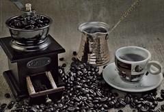 Fresh Coffee (khalid almasoud) Tags: wooden grinder coffee cafe bans fresh sony dscrx100m2 home light mood still life photography sonyrx100ii flickr estrellas photographyrocks