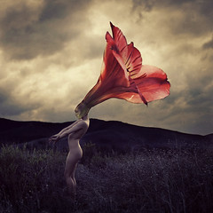 thorns that flowers grow (brookeshaden) Tags: flower stem alien growth thorn whimsical transformed fineartnude fineartphotography surrealphotography brookeshaden texturesbylesbrumes