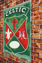 Celtic (Steve Taylor (Photography)) Tags: newzealand wall digital photoshop vintage painting rugby bricks canterbury illusion nz celtic timaru